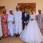 Photos: President Buhari and his wife, Aisha attend wedding reception of VP Yemi Osinbajo's daughter