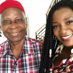 Genevieve Nnaji shares lovely photo with her father….she looks so much like him