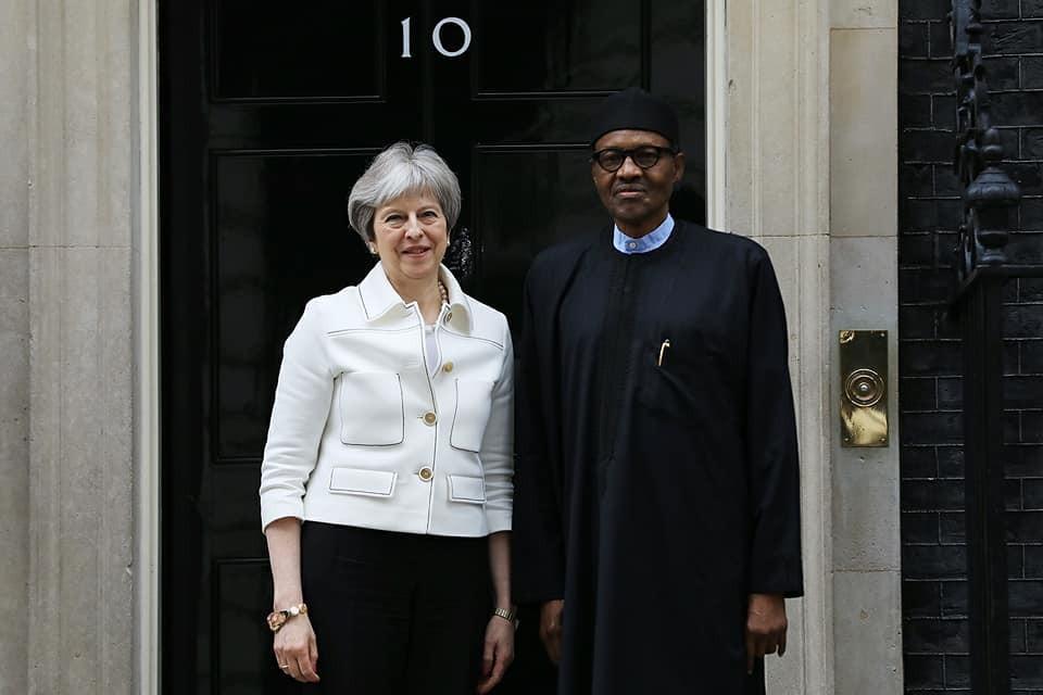 Theresa May President Buhari  10 Downing street UK