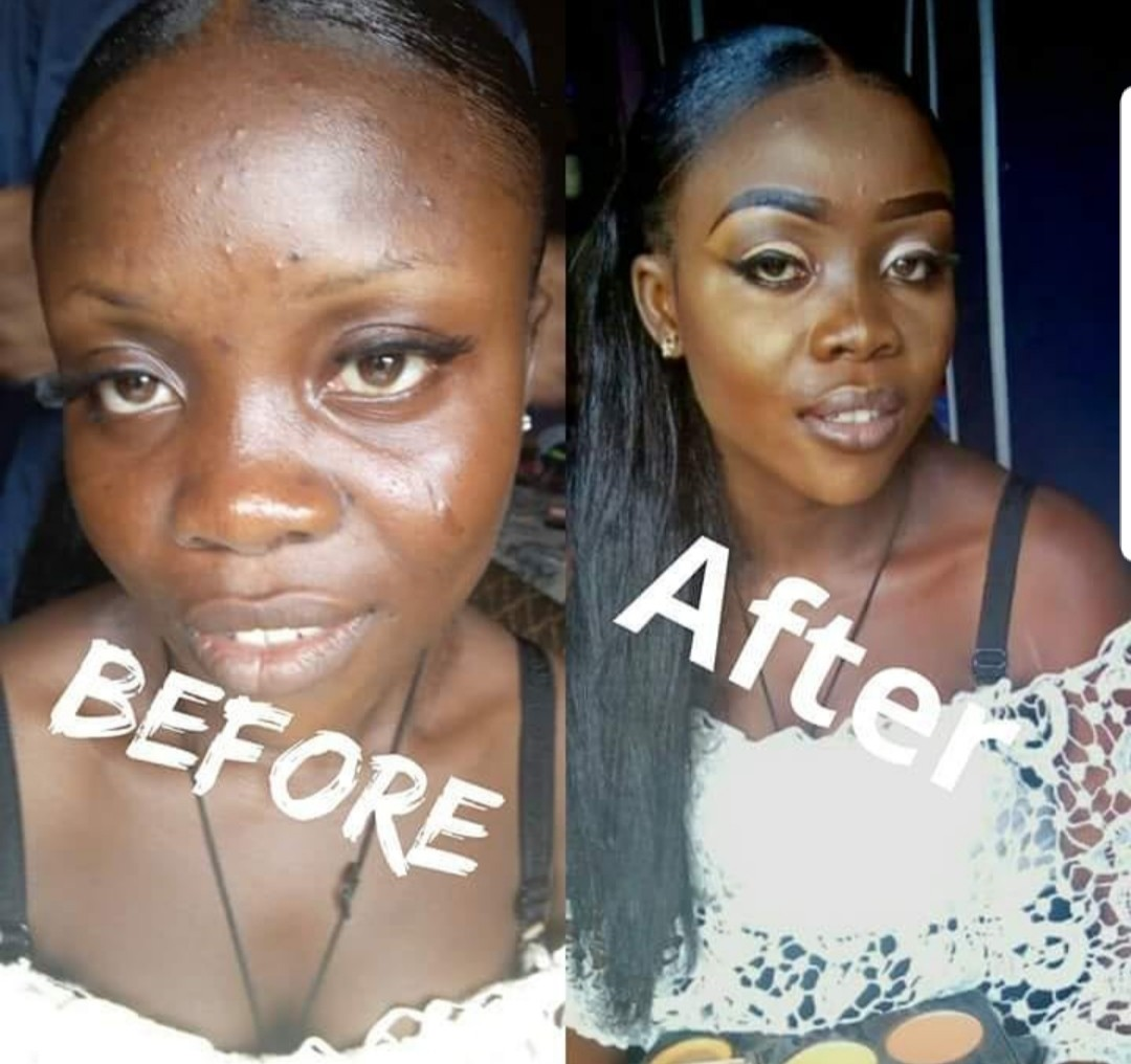 Check out these before and after makeup 'transformation' photos